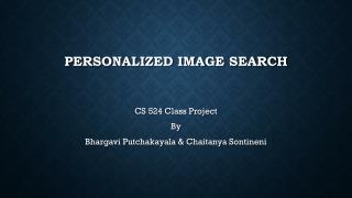Personalized Image Search
