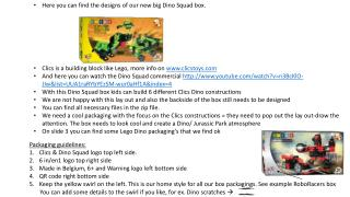 Here you can find  the designs of  our  new  big  Dino Squad box .