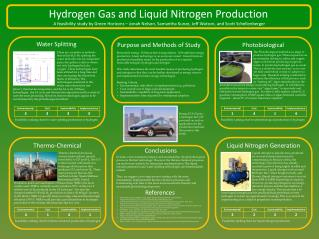 Hydrogen Gas and Liquid Nitrogen Production