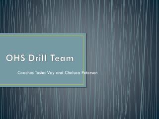OHS Drill Team
