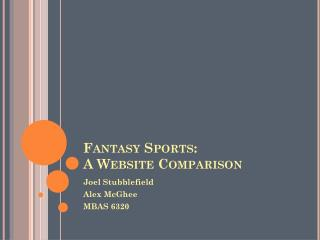 Fantasy Sports: A Website Comparison
