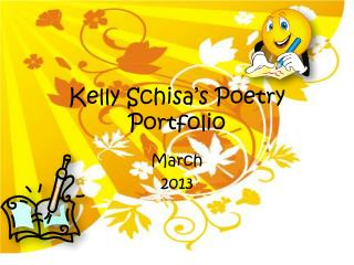 Kelly Schisa's Poetry Portfolio