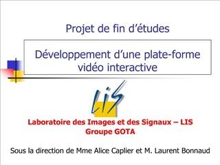 Projet de fin d  tudes  D veloppement d une plate-forme vid o interactive
