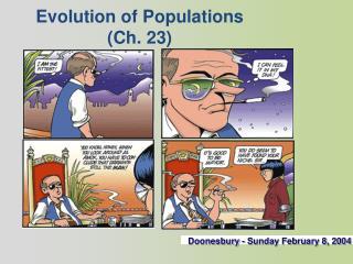 Evolution of  Populations (Ch. 23)