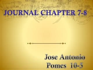 Journal chapter 7-8