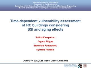 Time-dependent vulnerability assessment  of RC buildings considering  SSI and aging effects