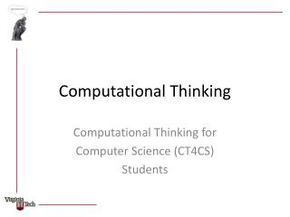 Computational Thinking