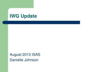 IWG Update