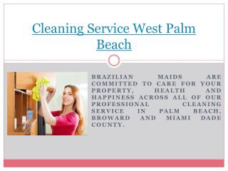 Cleaning Service Boca Raton