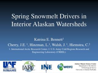 Spring Snowmelt Drivers in Interior Alaskan Watersheds