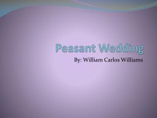 Peasant Wedding