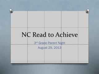 NC Read to Achieve