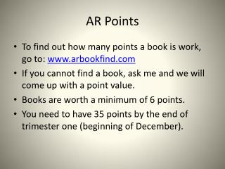 AR Points