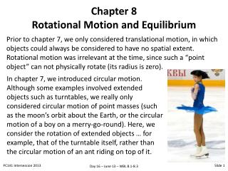 Chapter 8 Rotational Motion and Equilibrium