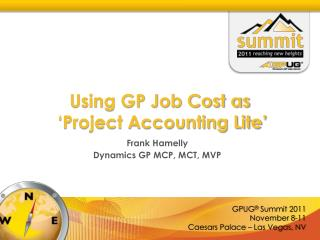 Using GP Job Cost as  'Project Accounting Lite'
