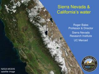 Sierra Nevada & California's water