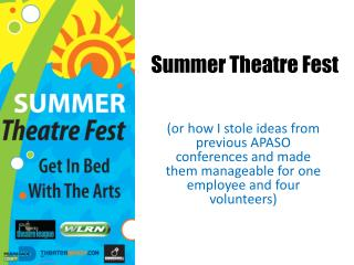 Summer Theatre Fest