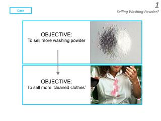 OBJECTIVE:    To sell more washing powder