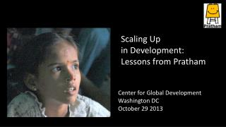 Center  for Global Development  Washington DC  October 29 2013