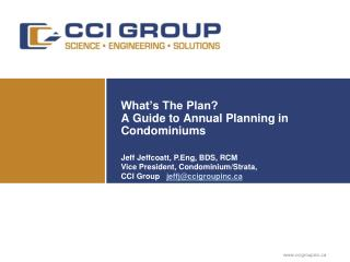 What's The Plan? A Guide to Annual Planning in Condominiums