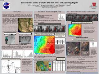 Episodic Dust Events of Utah�s Wasatch Front and Adjoining Region