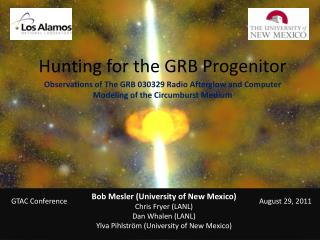 Hunting for the GRB Progenitor