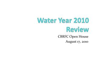 Water Year  2010 Review