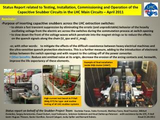 Reminder: -Purpose of inserting capacitive  snubbers  across the LHC extraction switches: