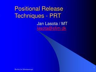 Positional Release Techniques - PRT