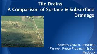 Tile Drains A Comparison of Surface & Subsurface Drainage