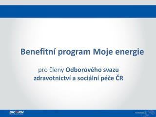 Benefitní  program Moje energie