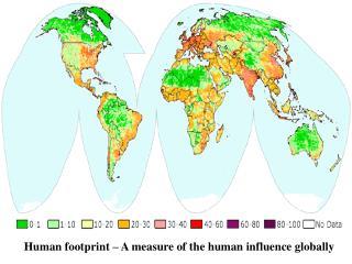 Human footprint – A measure of the human influence globally