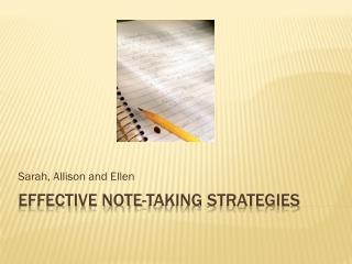 Effective note-taking strategies
