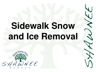 Sidewalk Snow and Ice Removal