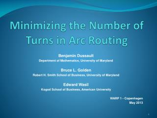 Minimizing the Number of Turns in Arc Routing