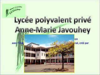 Lyc�e priv� catholique sous contrat d�association