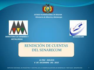 RENDICIÓN DE CUENTAS   DEL SENARECOM