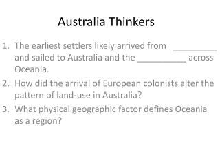 Australia Thinkers
