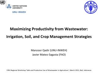 Maximizing Productivity from Wastewater:  Irrigation, Soil, and Crop Management Strategies