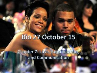 Bio 27 October 15