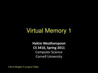 Virtual Memory 1