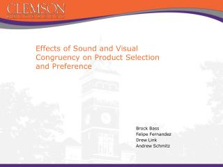 Effects of Sound and Visual Congruency on Product Selection and Preference