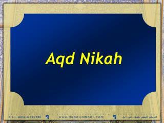 Aqd Nikah