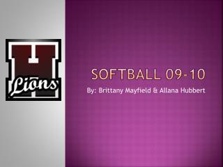 Softball  09 -10