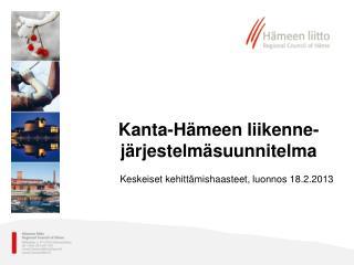 Kanta-Hämeen liikenne-järjestelmäsuunnitelma