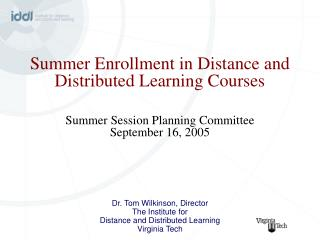 Summer Session Appendix F