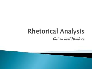 Rhetorical Analysis