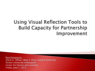 Using Visual Reflection Tools to Build Capacity for Partnership Improvement