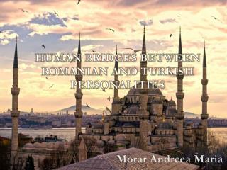 HUMAN BRIDGES BETWEEN ROMANIAN AND TURKISH  PERSONALITIES