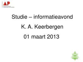 Studie-informatieavond K. A. Keerbergen – 18 februari 2011